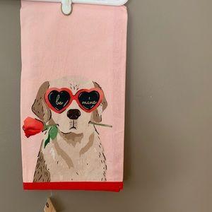 Anthropologie Amy Heitman Puppy Love Dish Towel